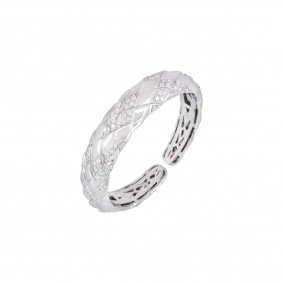 White Gold Diamond Set Bangle